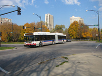 Bus #4006 at Stockton and Fullerton, working route #156 LaSalle, on November  4, 2008.
