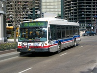 Bus #6466 at State and Wacker, working route #29 State, on February 28, 2004.