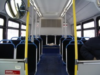 The interior of prototype bus #7800 on January 22, 2005.
