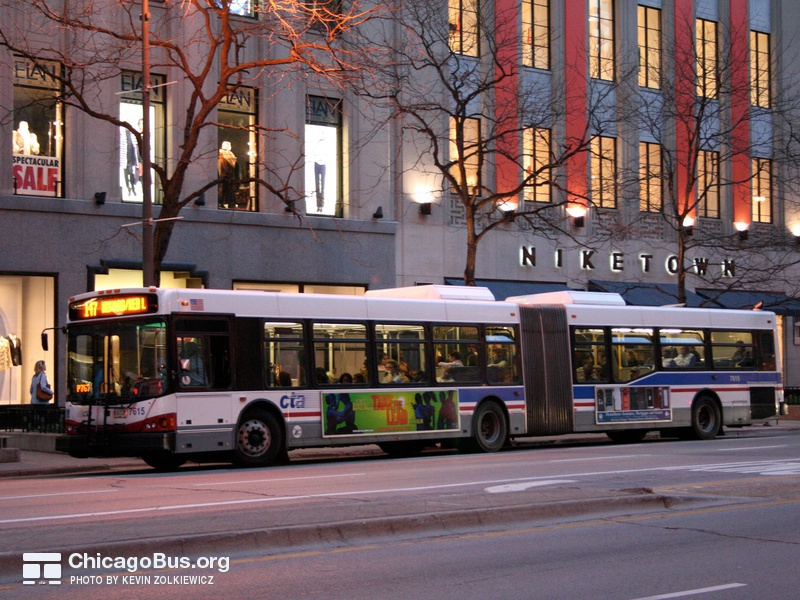 Bus #7615 at Michigan and Huron, working route #147 Outer Drive Express, on April 13, 2006.