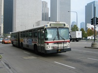 Bus #7373 at Michigan and Madison, working route #147 Outer Drive Express, on November 17, 2003.