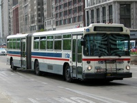 Bus #7323 at Michigan and Madison on April 28, 2004.