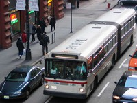Bus #7340 at Jackson and Wells, working route #156 LaSalle, on March  9, 2004. Ex-King County Metro #2191.