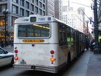 Bus #7365 at State and Madison on March 12, 2004.