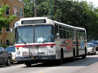 Bus #7367 at Kimball and Balmoral, working route #82 Kimball/Homan, on July 23, 2004.