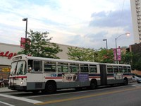 Bus #7373 at Belmont and Broadway, working route #156 LaSalle, on July 29, 2004.