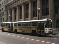 Bus #7400 at LaSalle and Jackson on July 30, 2004.
