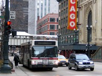 Bus #4288 at State and Randolph, working route #146 Inner Drive/Michigan Express, on March  5, 2004.