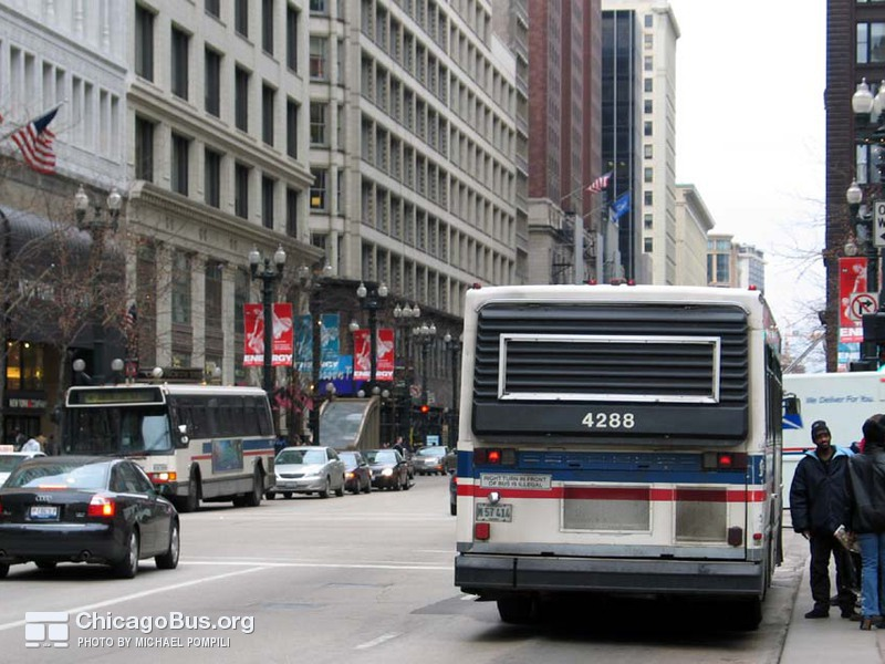 Bus #4288 at State and Washington, working route #146 Inner Drive/Michigan Express, on March  5, 2004.