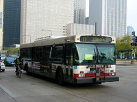 Bus #5859 at Michigan and Washington on November 17, 2003.