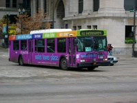 Bus #5832 at Washington and Michigan, working route #151 Sheridan, on November 22, 2003.