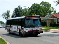 Bus #6057 at Higgins and Talcott, working route #88 Higgins, on June 16, 2006.
