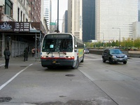 Bus #4491 at Michigan and Madison, working route #60 Blue Island/26th, on November 17, 2003.
