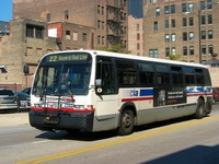 Bus #4575 at Clark and Polk, working route #22 Clark, on September 27, 2005.
