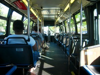 The interior of bus #4464, working route #201 Central/Ridge, on September 27, 2005.