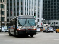 Bus #4756 at Wacker and Wabash, working route #2 Hyde Park Express, on August 21, 2007.