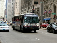 Bus #4445 at Michigan and South Water, working route #146 Inner Drive/Michigan Express, on June  6, 2008.