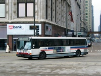 Bus #5444 at Michigan and Washington, working route #20 Madison, on November 22, 2003.