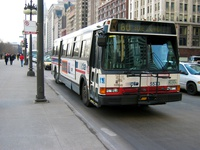 Bus #5573 at Michigan and Washington, working route #60 Blue Island/26th, on February 28, 2004.