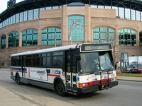 Bus #5688 at US Cellular Field, working route #35 31st/35th, on March 29, 2005.