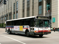 Bus #5519 at Columbus and Grand, working route #29 State, on June 28, 2006.