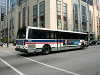 Bus #5489 at Illinois and Columbus, working route #66 Chicago, on June 28, 2006.