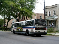 Bus #5653 at  Kedzie near the Kedzie-Homan Pink Line on August 27, 2006.
