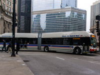 Bus #4304 at Michigan and Wacker, working route #6 Jackson Park Express, on December 19, 2012.