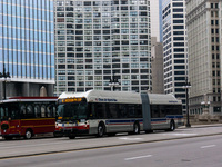 Bus #4304 at Wacker between Michigan and Wabash, working route #6 Jackson Park Express, on December 19, 2012.