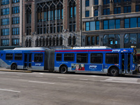 Bus #4088 at Michigan and Madison, working route #J14 Jeffery Jump, on January 16, 2013.