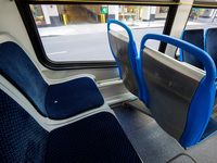 The interior of bus #7904, working route #24 Wentworth, on July 18, 2014.