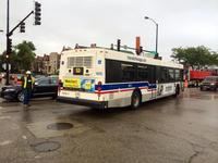 Bus #1870 at 31st and Pulaski, working route #53 Pulaski, on September 12, 2014.