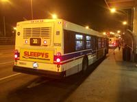 Bus #1035 at 69th Red Line Station, working route #30 South Chicago, on October 24, 2014.