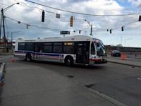 Bus #8051 at 63rd and Yale, working route #63 63rd, on April  3, 2015.