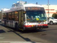 Bus #8111 at Chicago and Ogden, working route #66 Chicago, on July 30, 2015.