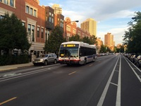 Bus #8115 at Lincoln, Cleveland and Dickens, working route #37 Sedgwick, on August  4, 2015.