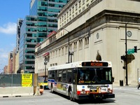 Bus #1715 at Jackson and Canal, working route #7 Harrison, on July 17, 2015.