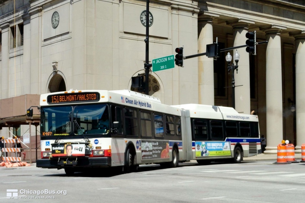 Bus #4200 at Union Station, working route #151 Sheridan, on July 17, 2015.