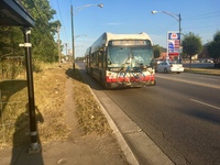 Bus #4303 at 95th and Constance, working route #100 Jeffery Manor Express, on September 25, 2017.