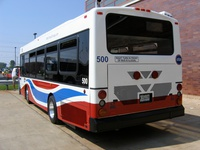 Bus #500 at Skokie Shops on June 17, 2006. Prototype bus #500 at Skokie Shops on June 17, 2006.