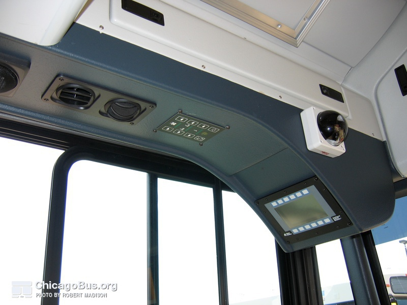 The controls above the driver's seat on prototype bus #500 while at Skokie Shops on June 17, 2006.