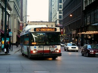 Bus #809 at Madison and State, working route #157 Streeterville/Taylor, on March 22, 2007.